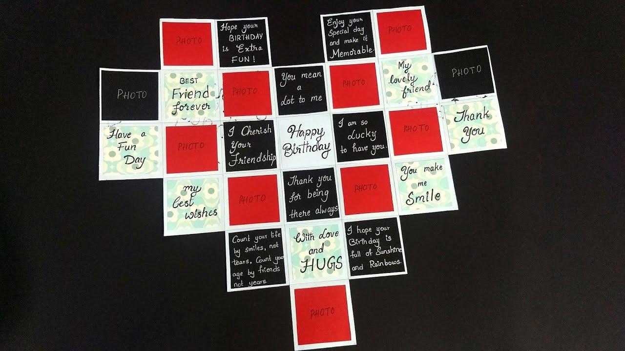 Beautiful Handmade Birthday Card For Best Friend Diy Birthday Card For Friend Tutorial Youtube