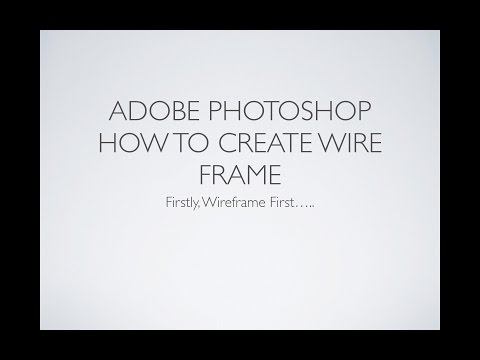 Photoshop Wireframe  for Web Design