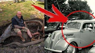 """Мужчина ВЫКОПАЛ у себя во дворе """"ТАИНСТВЕННЫЙ"""" автомобиль 1950-х годов... И к ней МНОГО вопросов..."""