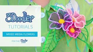 Fleurs en tulle déco Stylo 3D