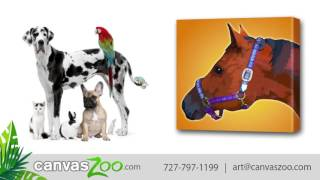 Your Pets Image as Artwork Have Animal Photos Dogs Cats Horses All