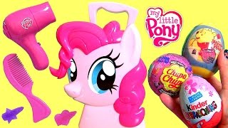 My Little Pony Pinkie Pie Hair Case Kinder Surprise Eggs | Maletín Mi Pequeño Pony Peinados