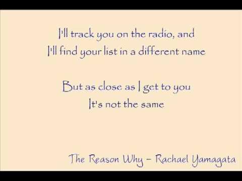 Rachael Yamagata - The Reason Why Lyrics