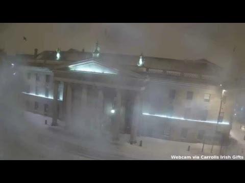 Storm Emma from Dublin City Centre (Thursday night)