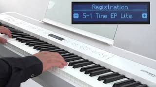 """Using the Registration"" Roland FP-90 / FP-60 #10"