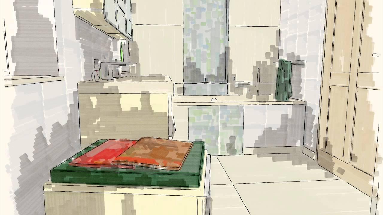 imhaus 3D Fürdőszoba Tervezés - 1. - YouTube