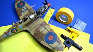 How to paint and create stencils RAF roundels - Great Guide Plastic Models