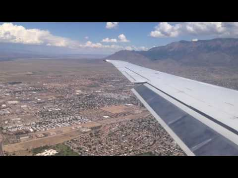 Albuquerque, New Mexico - Landing at Albuquerque International Sunport HD (2016)