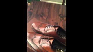 Unboxing Carmina 922 Cognac Shell Cordovan Shoes.