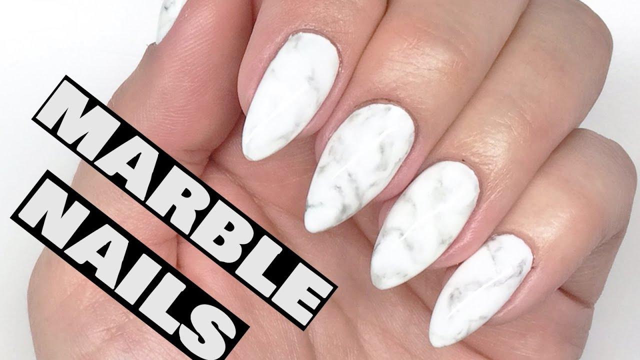 HOW TO: Marble Nails | Gel Polish Nail Art Tutorial || My ...