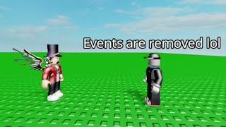 The Removal of Roblox Events (Roblox Animation)