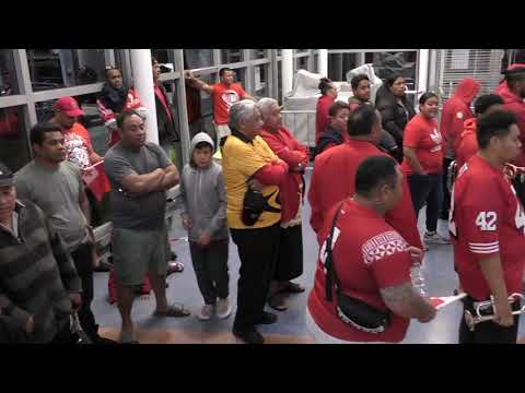 MATE MAA TONGA RUGBY LEAGUE WORLD CUP 30 OCT 2017 AUCKLAND AIR PORT