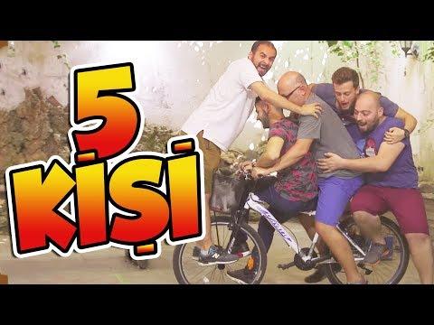 Bisiklete 5 Kişi Bindik - Zor Oldu Ama Oldu
