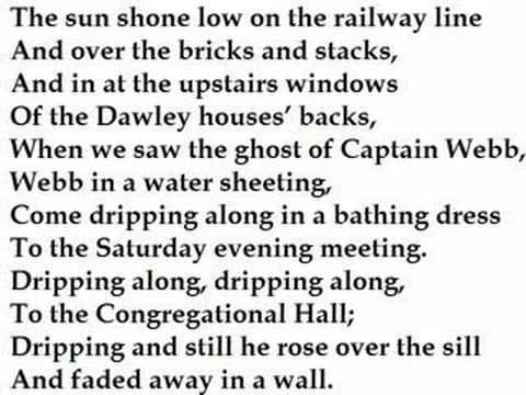 """A Shropshire Lad"" by John Betjeman (read by Tom O'Bedlam)"