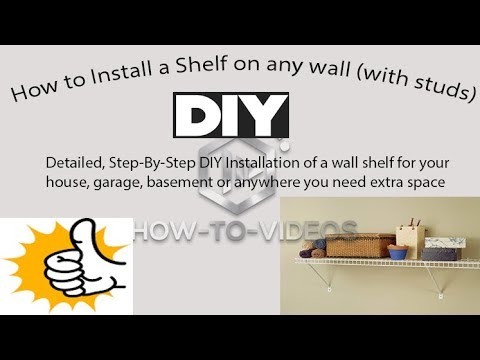 DIY - How to install a metal shelf made easy!! 15 minutes for beginners, add extra storage