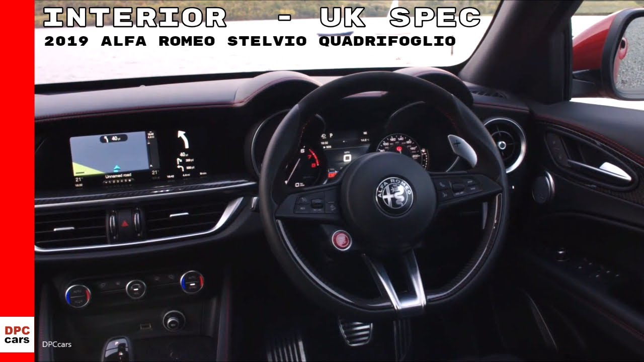 2019 Alfa Romeo Stelvio Quadrifoglio Interior Cockpit Uk Spec