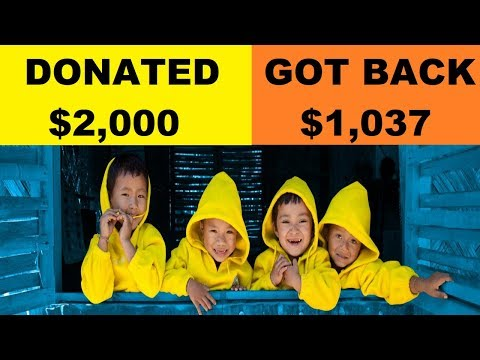 I DONATED $2,000 TO UNICEF, GOT $1,037 BACK FROM THE GOVERNMENT