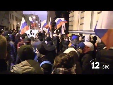 Проект 60sec №265. Акция протеста у посольства Украины в Москве