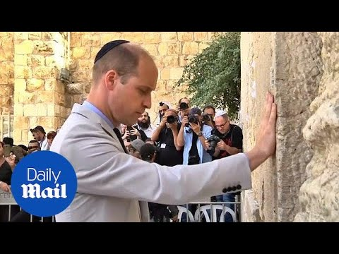 Prince William Visits Jerusalem's Western Wall On First Israel Royal Visit
