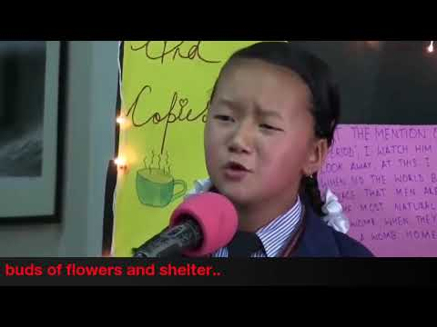 Beautiful Poem For Syria,by A Small Girl From Nepal.