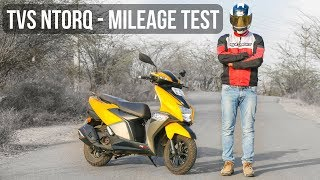 TVS Ntorq Real World Mileage Test & Review - City Traffic Condition
