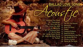Best Soft English Acoustic Love Songs 2021 - Top Guitar Acoustic Cover of Popular Songs Of All Time