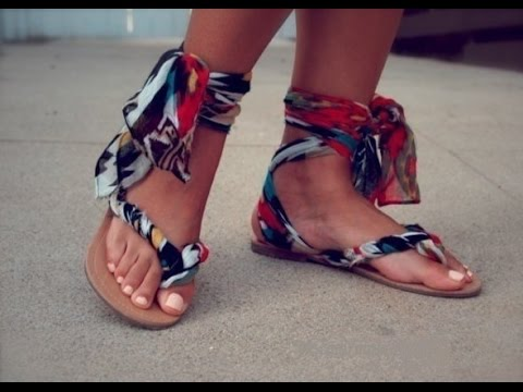 Сшить сандалии своими руками