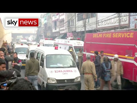 'Extremely horrific' fire at New Delhi factory kills many