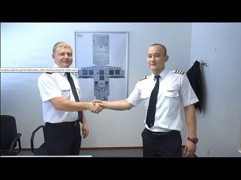 Where do Air Astana pilots go for training?