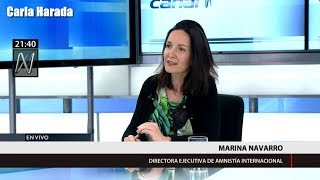 Marina Navarro de Amnistía Internacional: