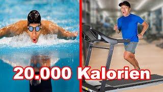 20.000 KALORIEN VERBRENNEN IN 24 STUNDEN - CHALLENGE !!! | Kelvin und Marvin