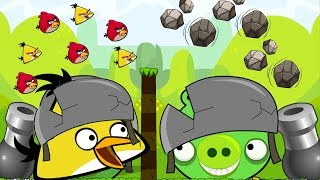 Angry Birds Cannon Collection - OVERDRIVE THROW STONE BACK TO BOSS PIG WITH 100 TNT!