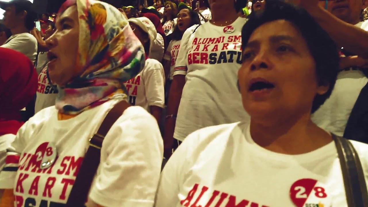 Alumni SMA Jakarta Bersatu & Addie MS Bersatu Nyanyikan Indonesia Raya Bersama Relawan Jokowi