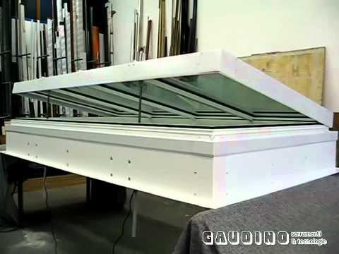 Lucernario apribile motorizzato in alluminio a taglio for Lucernario motorizzato prezzo