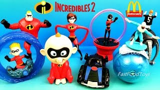 2018 McDONALD'S INCREDIBLES 2 MOVIE HAPPY MEAL TOYS DISNEY PIXAR THE INCREDIBLES FULL SET 8 2004 USA