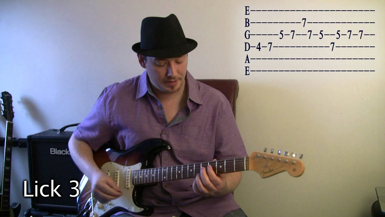 learn 8 blues licks which use arpeggios youtube. Black Bedroom Furniture Sets. Home Design Ideas
