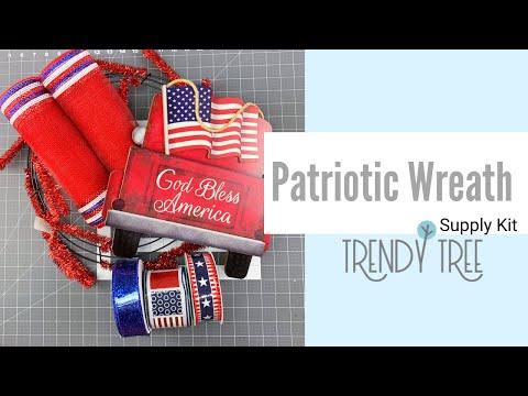2020 Free Patriotic Wreath Tutorial