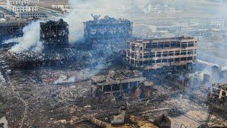 Drohnenaufnahmen zeigen Zerstörung nach Explosion in chinesischer Chemiefabrik