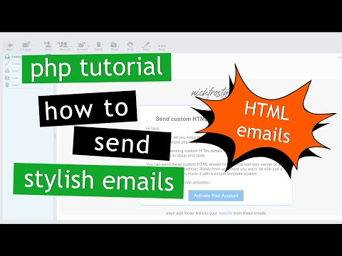 PHP Tutorial: How To Send HTML Emails With Php | PHP Email Template System | Send Stylish Emails Php