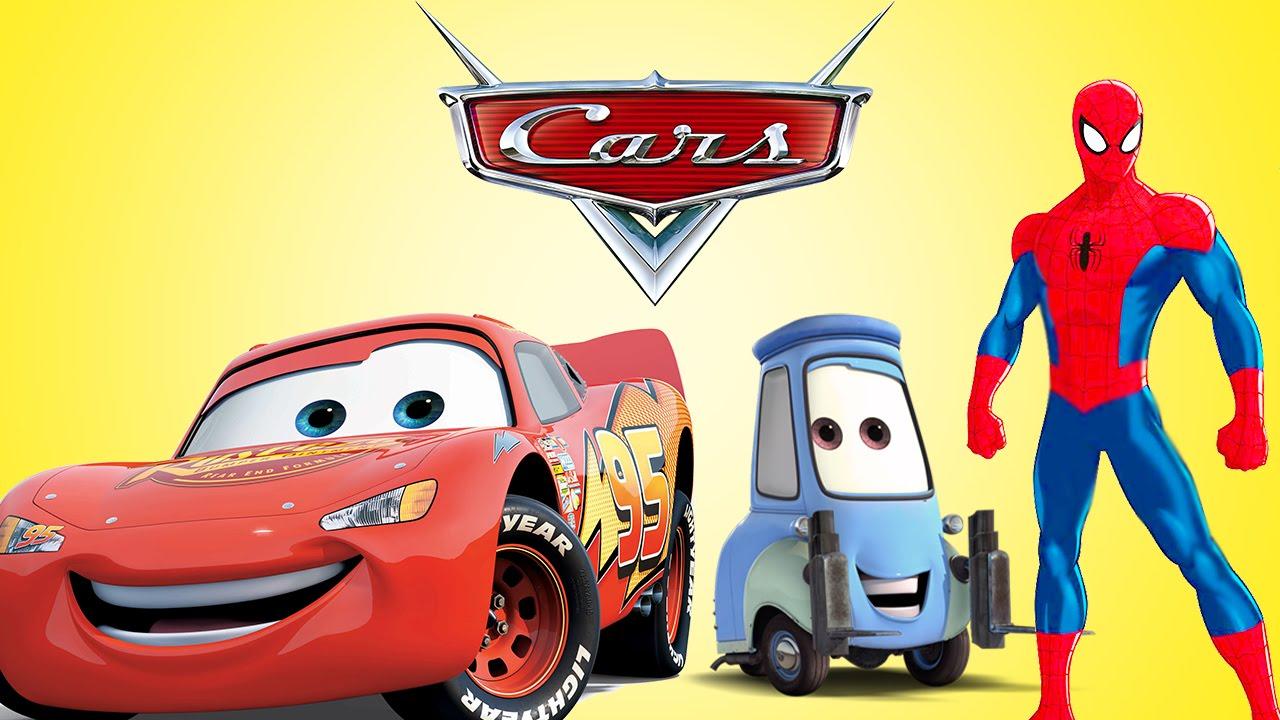 Spiderman, Disney Cars Pixar & Lightning McQueen | Nursery Rhymes ...