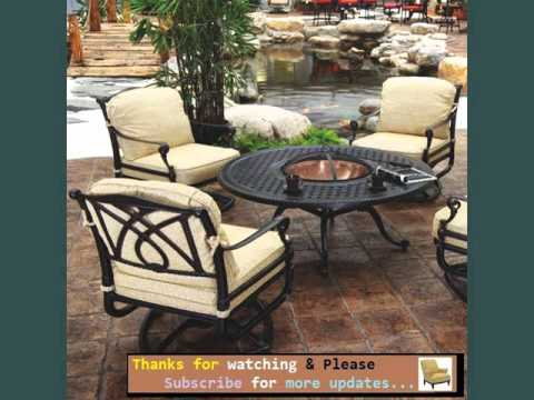 Attrayant Garden Furniture Ideas | Outdoor Furniture With Fire Pit Romance   YouTube