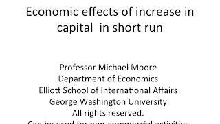 Economic effects of FDI (increase in capital) in short run (sector-specific capital)