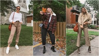 SUMMER TO FALL TRANSITION OUTFITS!