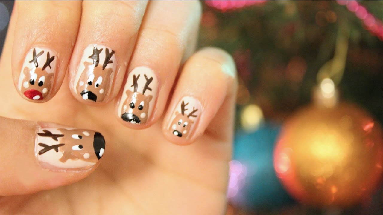 Christmas Nails - Rudolf Nagel Design   Sanny Kaur - YouTube