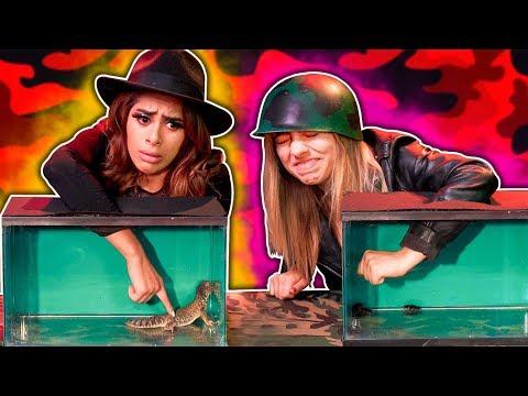 YouTubers VS El animal secreto. Casi pierden un dedo