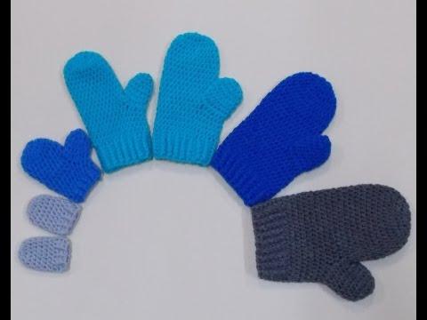 Mittens Small And Medium Adult Crochet Tutorial