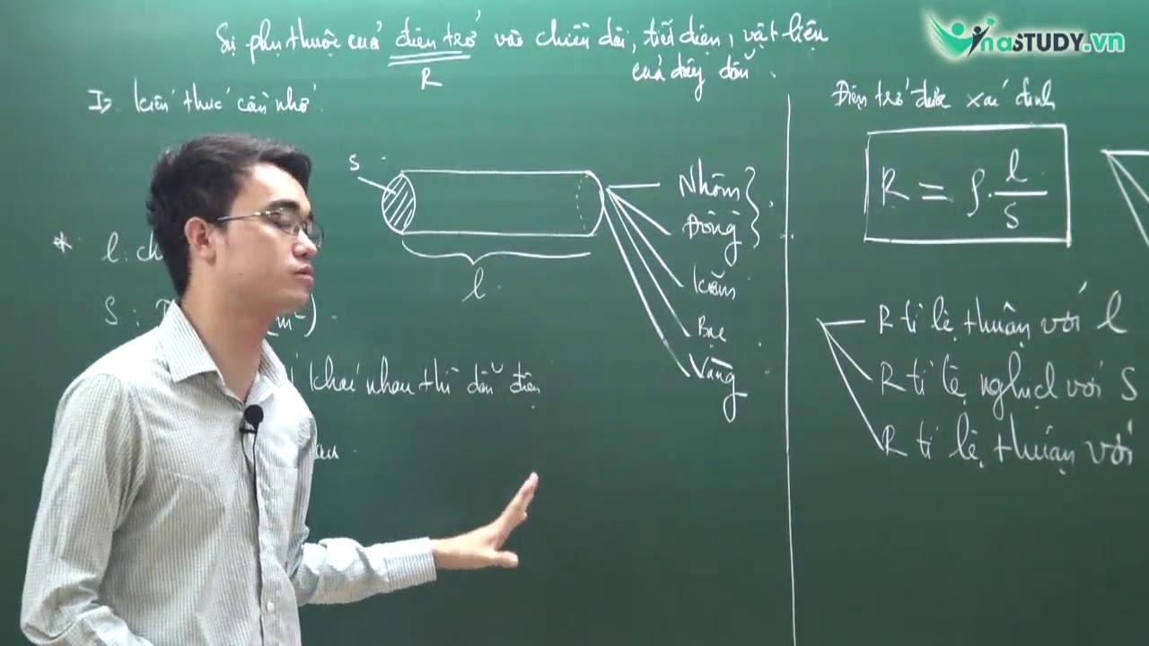 [Vật Lý lớp 9] – Điện trở phụ thuộc vào chiều dài, tiết diện, vật liệu làm dây dẫn