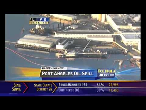 840-gallons of fuel oil spills in Port Angeles