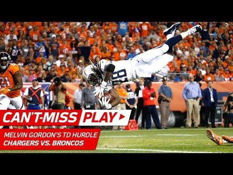 Melvin Gordon's Huge Hurdle & TD! - Can't-Miss Play - NFL Week 1 Highlights - 동영상