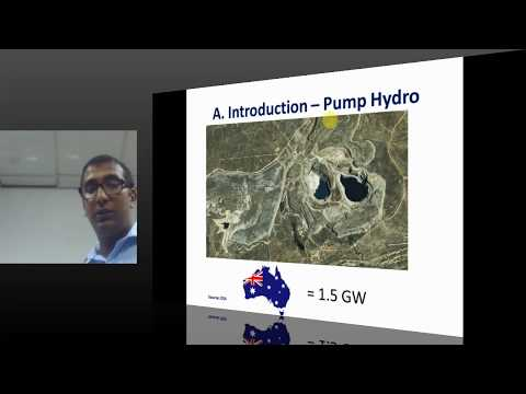 PUBLIC LECTURE : Role of the energy storage shaping the future grid of Australia